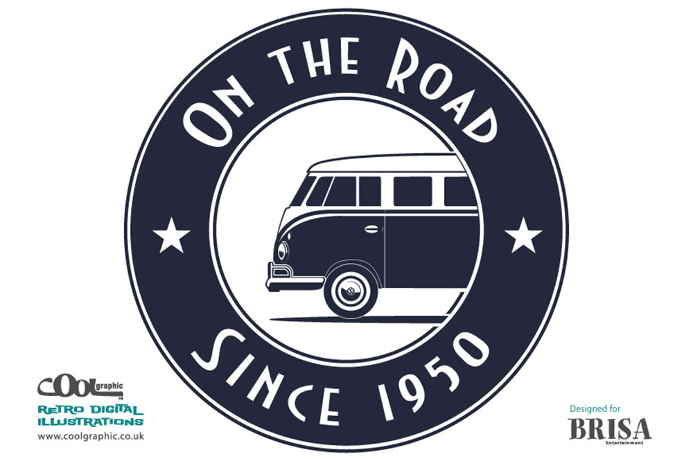 vw bus - retro logo design - thumb