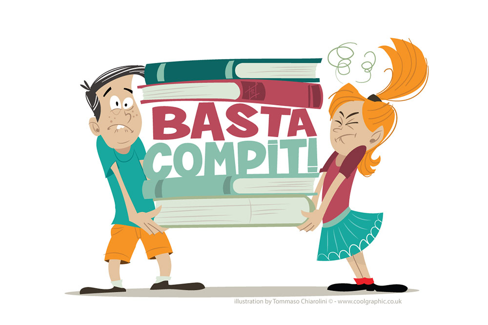 Basta Compiti logo - vector logo illustration