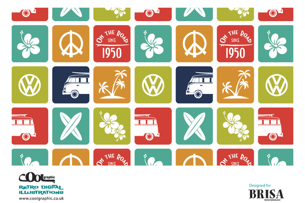 vw bus Retro vector logo