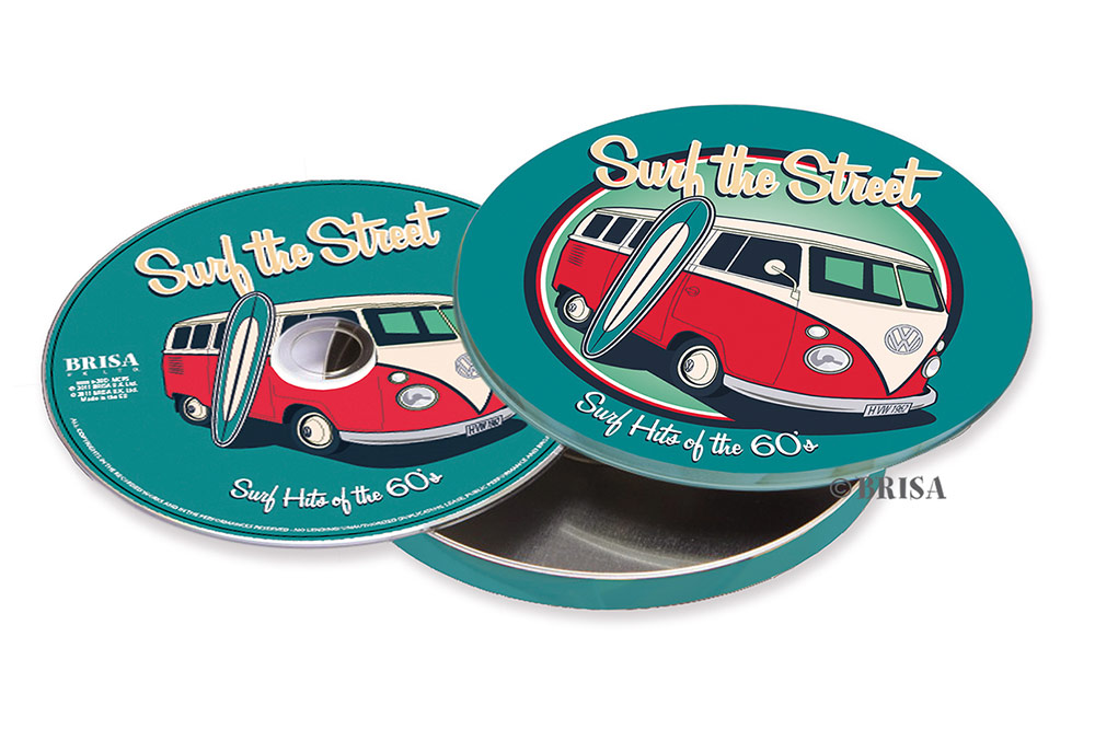 Volkswagen bus surf- Retro logo Design - thumb