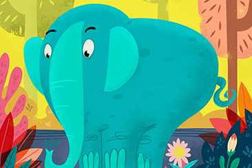 the elephant - children book illustration thumb