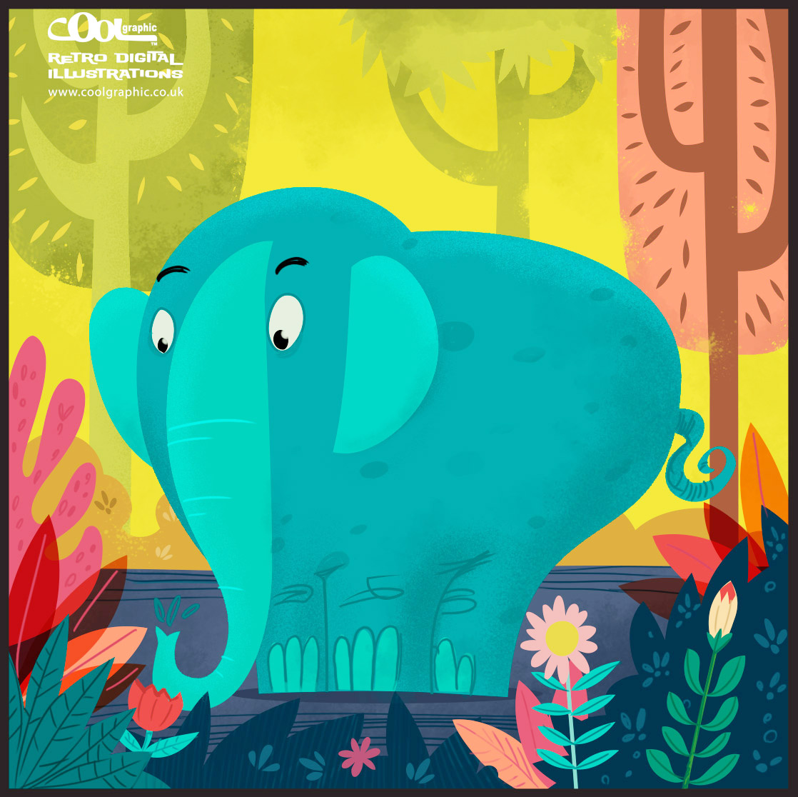 the elephant - children book illustration