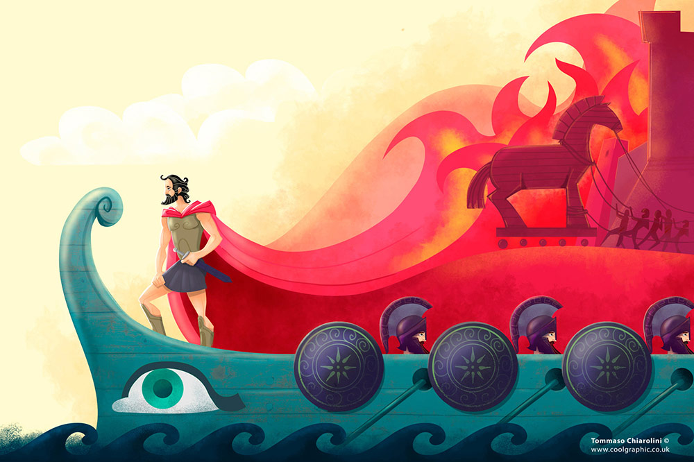Odysseus - digital art illustration thumb